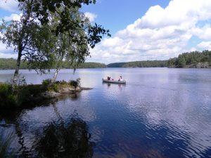 Kanot vid Långsjön Camping