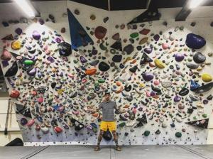 Stefan Rasmussen vid Västerviks nya klättercenter