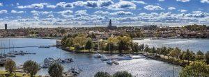 Västerviks stad från Kulbacken