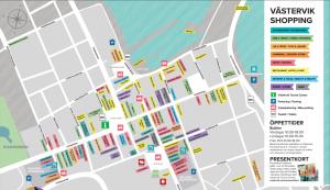 Shoppingguide, karta Västervik