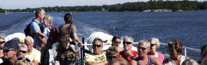 Människor på båt