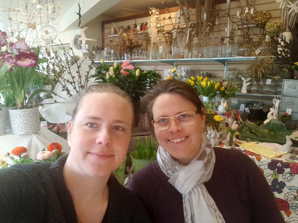 Karolina Pettersson och Eleonor Butik Blomstra i Gamleby