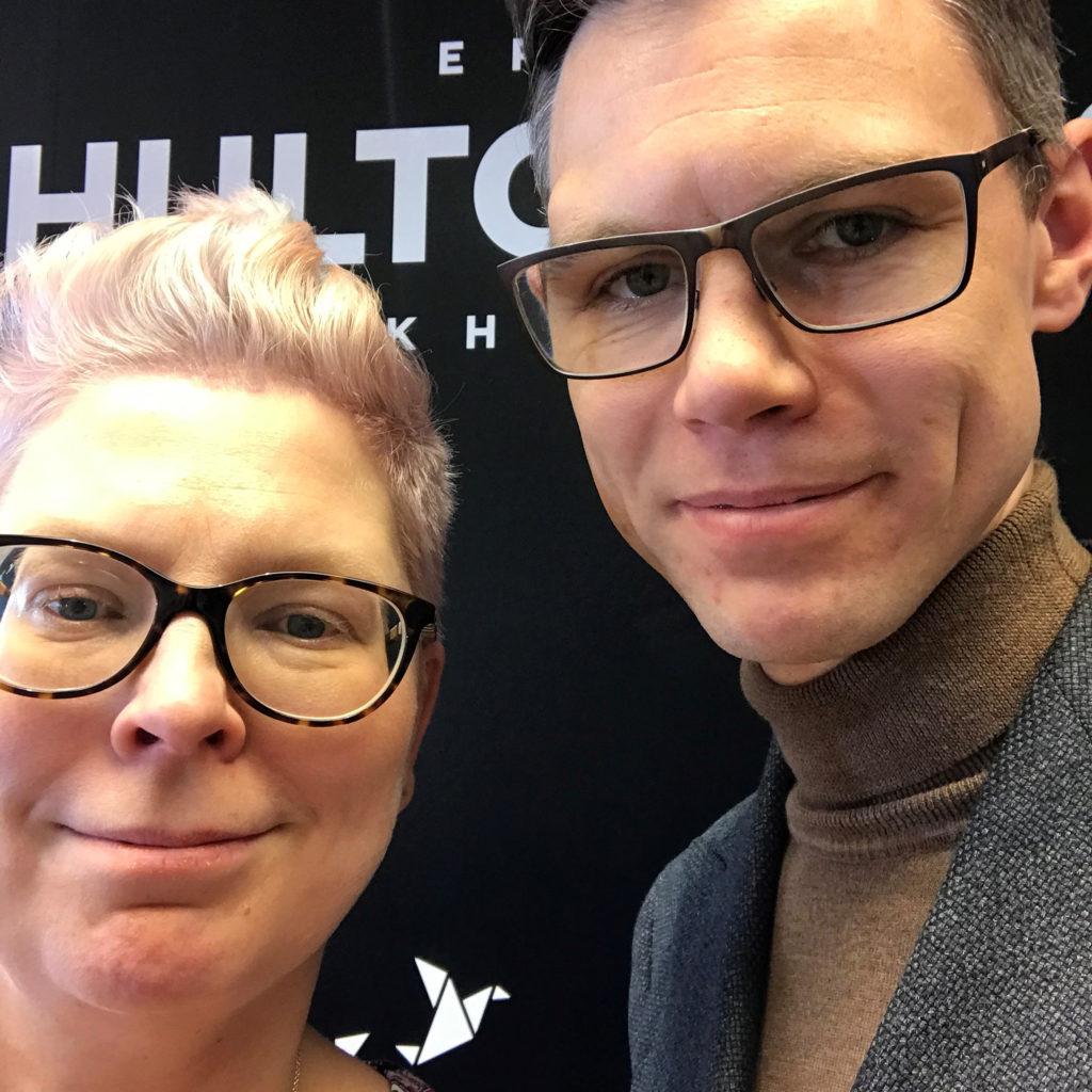 Malin och Fredrik Wall, Erik Hultgrens bokhandel, Västervik