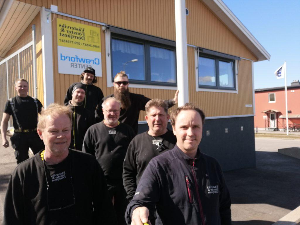 Västerviks Fönster & Dörrtjänst Håkan Persson Mats Larsson, Robin Åkerberg, Patrik Bjerendal Bo Holm, Michael Printz, Linus Flodin och Emil Johansson, Västervik